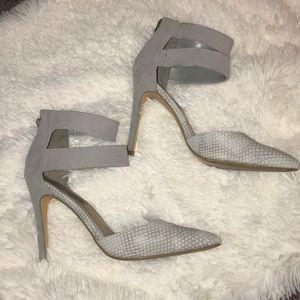 Steve Madden grey heels.